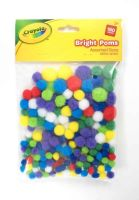 Crayola Bright Poms Assorted - 180pc