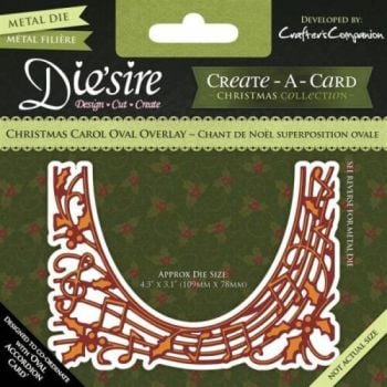 Crafters Companion DIESIRE Create a Card Die CHRISTMAS CAROL OVAL OVERLAY Music