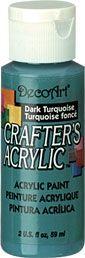Dark Turquoise - Deco Art 59ml Crafters Acrylic -