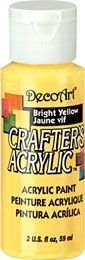 Bright Yellow - Deco Art 59ml Crafters Acrylic -