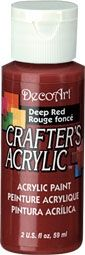 Deep red - Deco Art 59ml Crafters Acrylic -