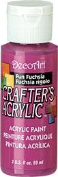 Fun Fuchsia - Deco Art 59ml Crafters Acrylic -