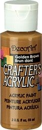 Golden brown - Deco Art 59ml Crafters Acrylic -
