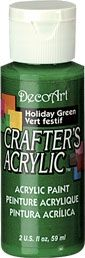 Deco Art 59ml Crafters Acrylic - Holiday green