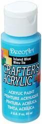 Deco Art 59ml Crafters Acrylic - Island Blue