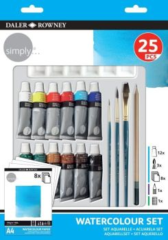 DR SIMPLY WATERCOLOUR 25 PIECE SET