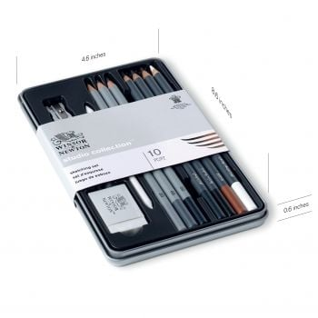 STUDIO COLLECTION SKETCHING SET 10 PC by Winsor & Newton
