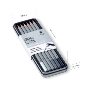 STUDIO COLLECTION GRAPHITE PENCILS TIN 6 by Winsor & Newton