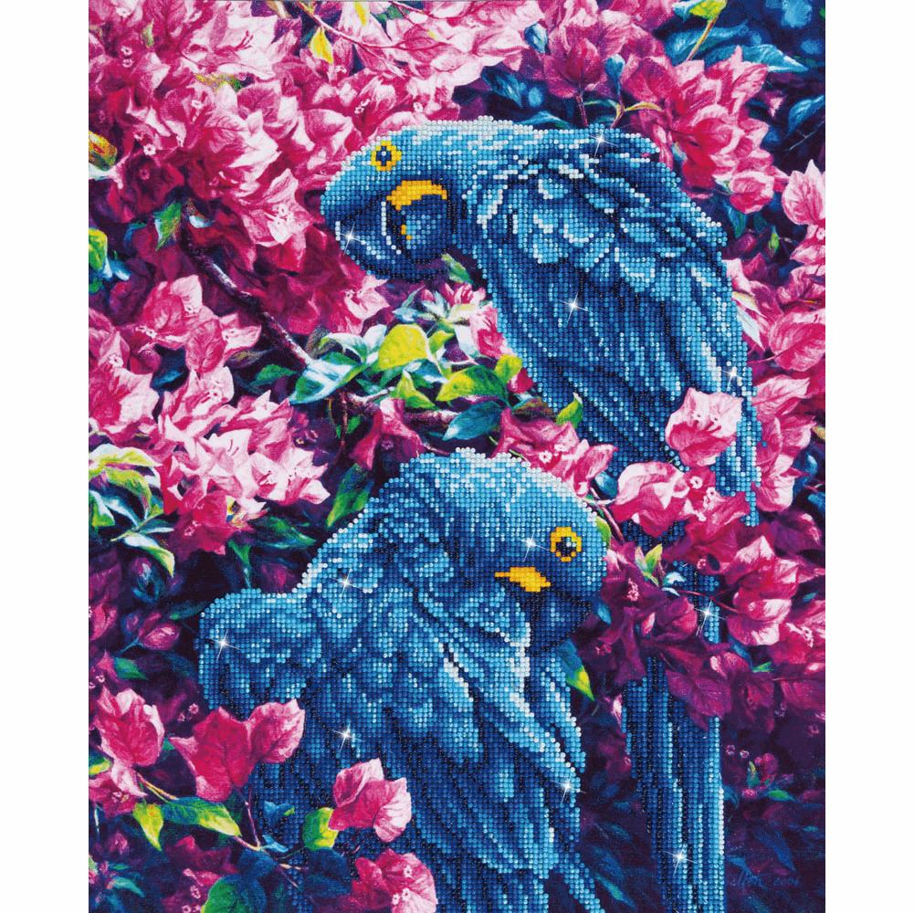 Diamond Painting Kit: Blue Parrots