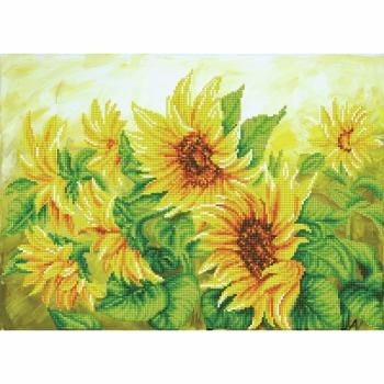 Diamond Painting Kit: Hazy Daze Sunflowers