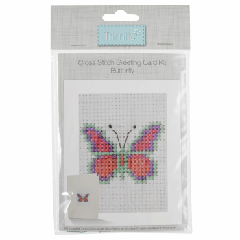 Counted Cross Stitch Kit: Card: Butterfly