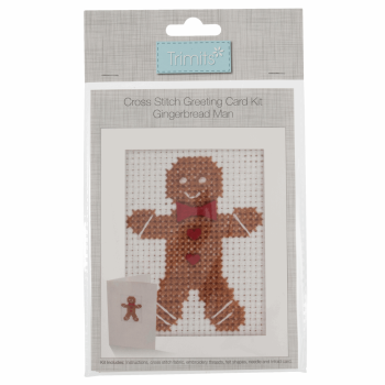 Cross Stitch Kit: Card: Gingerbread Man