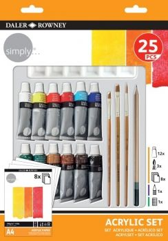 DR SIMPLY ACRYLIC 25 PIECE SET