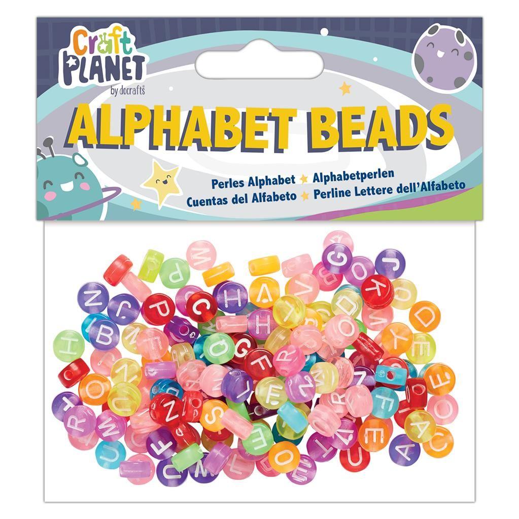 ALPHABET BEADS (160PCS) - COLOURED