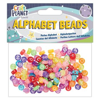 ALPHABET BEADS (160PCS) - COLOURED