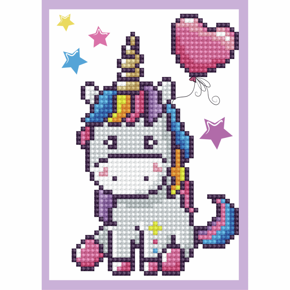 Diamond Painting Kit: Greeting Card Kit: Baby Unicorn