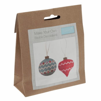 Felt Decoration Kit: Christmas: Pair of Baubles