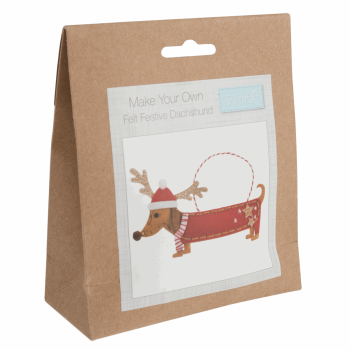 Felt Decoration Kit: Festive Dachshund