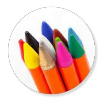 CREATIVE HOUSE FABRIC CRAYONS- 12 SET