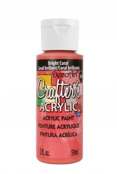 Bright Coral - Deco Art 59ml Crafters Acrylic -