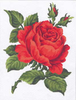 Tapestry Kit: Red Rose