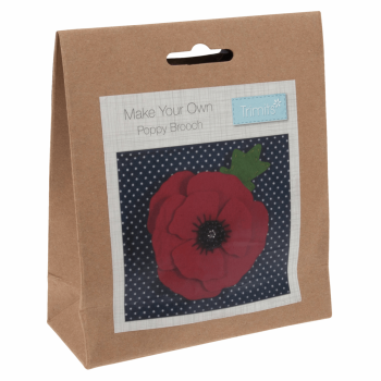 Felt Decoration Kit: Poppy Brooch