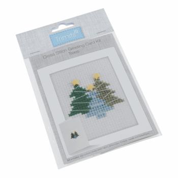 Cross Stitch Kit: Card: Trees