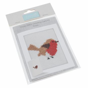 Cross Stitch Kit: Card: Robin