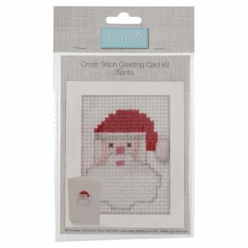 Cross Stitch Kit: Card: Santa