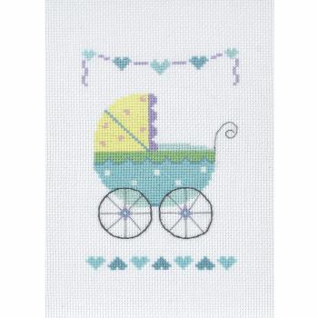 Cross Stitch Kit: Baby Boy Card