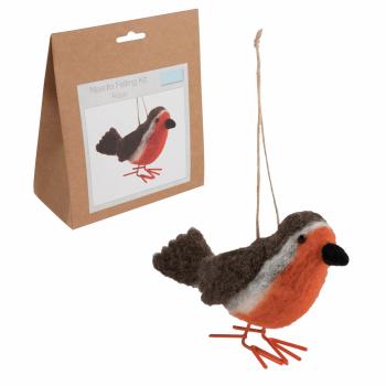 Needle Felting Kit: Robin