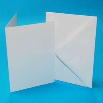 CRAFT UK C5 WHITE CARDS & ENVELOPES 25 PACK