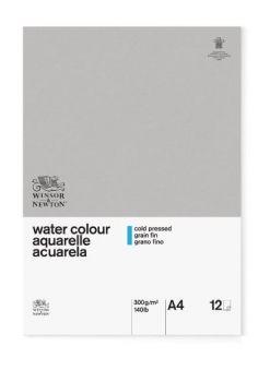 WN A4 GLUED CLASSIC 12SH CP WATERCOLOUR PAD 300G