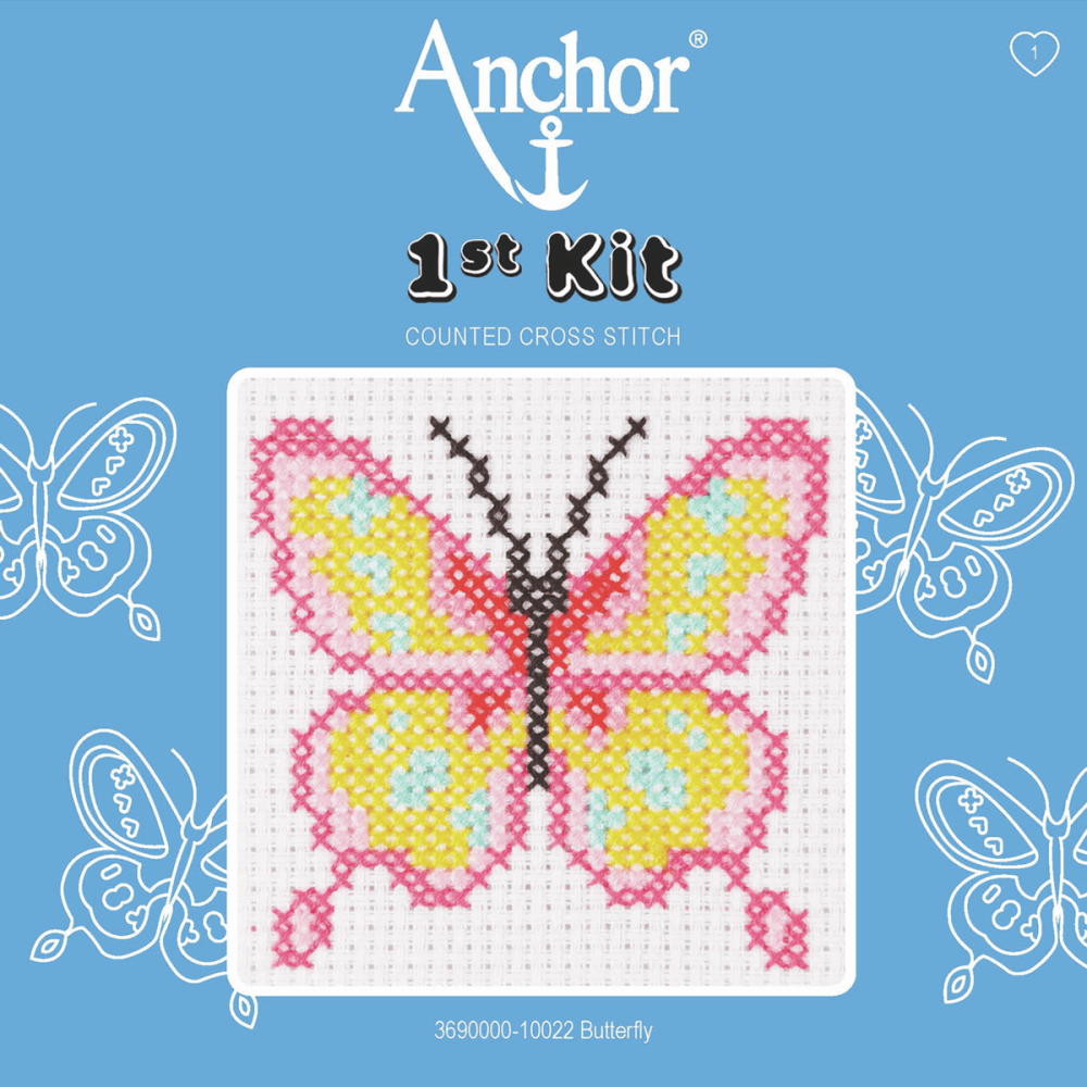Cross Stitch Kit: 1st Kit: Butterfly