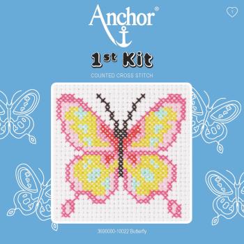 Cross Stitch Kit: 1st Kit: Butterfly