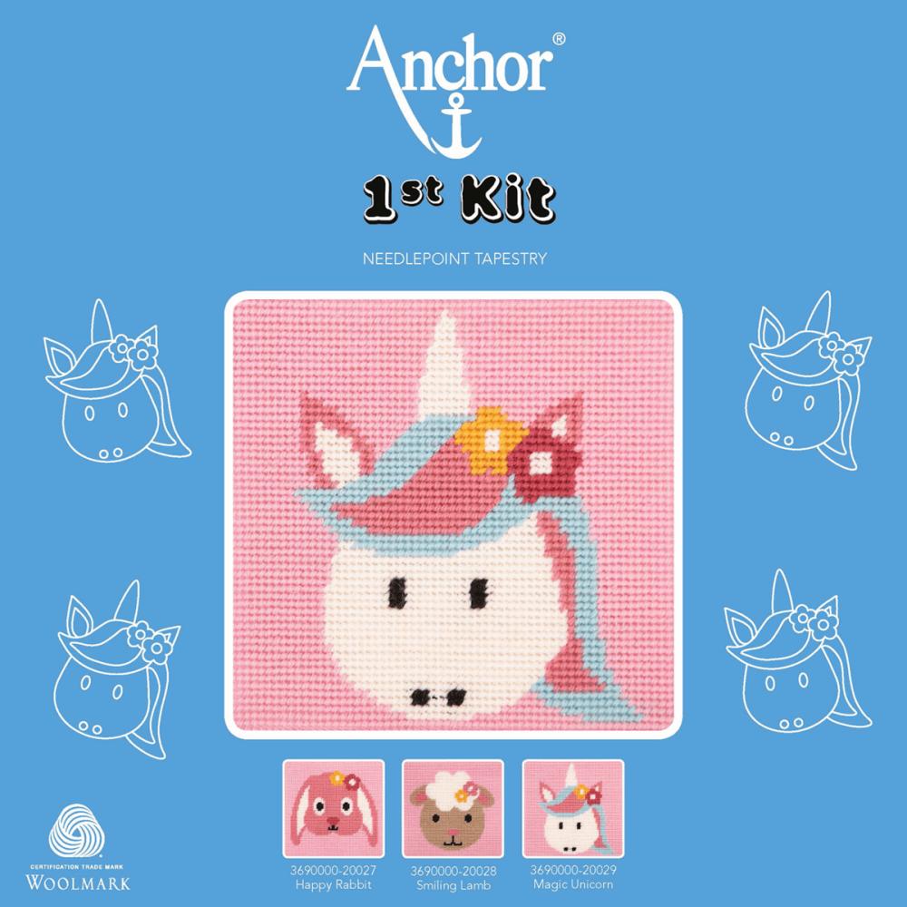 Cross Stitch Kit: 1st Kit: Best Friends: Magic Unicorn
