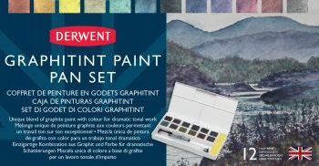 DERWENT GRAPHITINT 12 PAN SET