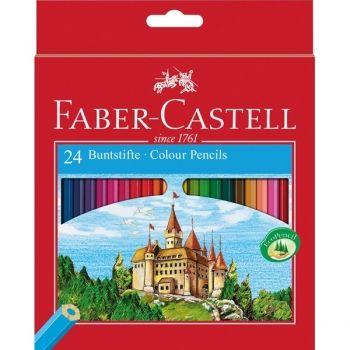 FABER CASTELL 24 COLOURING PENCILS CASTLE