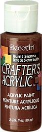 Burnt Sienna - Deco Art 59ml Crafters Acrylic -