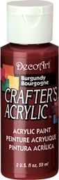 Burgundy - Deco Art 59ml Crafters Acrylic -