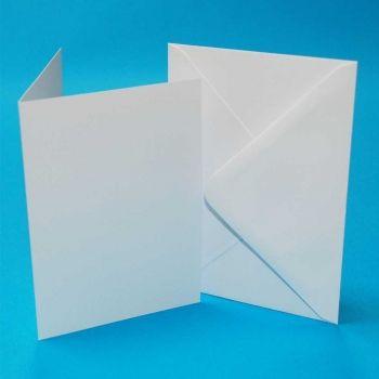 CRAFT UK C6 WHITE CARD/ENVELOPE 50 PACK