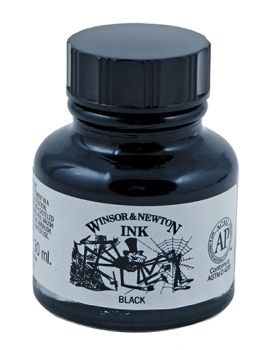 WN DRAWING INK LARGER BLACK 30ml INDIAN INK Spider