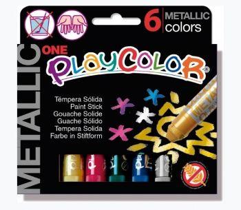 PLAYCOLOR ONE METALLIC SET 6 10gm COLOUR STICKS