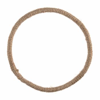Jute Hoop / Wreath Base: Jute-Wrapped Wire: 14cm/5.5in