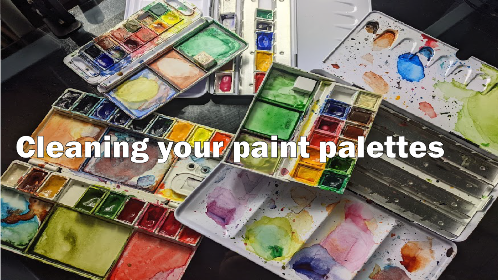 Paint Palette cleaning