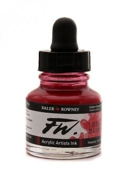 Crimson Daler Rowney Artists Acrylic Ink - FW INK