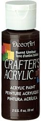 Burnt Umber - Deco Art 59ml Crafters Acrylic -