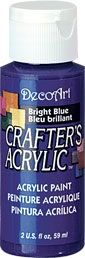 Bright Blue - Deco Art 59ml Crafters Acrylic -