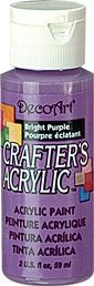 Bright Purple - Deco Art 59ml Crafters Acrylic -