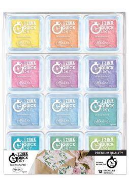 Izink Quick Dry Pigment Ink Pads - Pastel set of 12